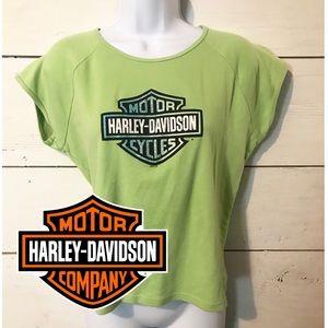 Harley Davidson Green Glitter T-shirt Daytona XL